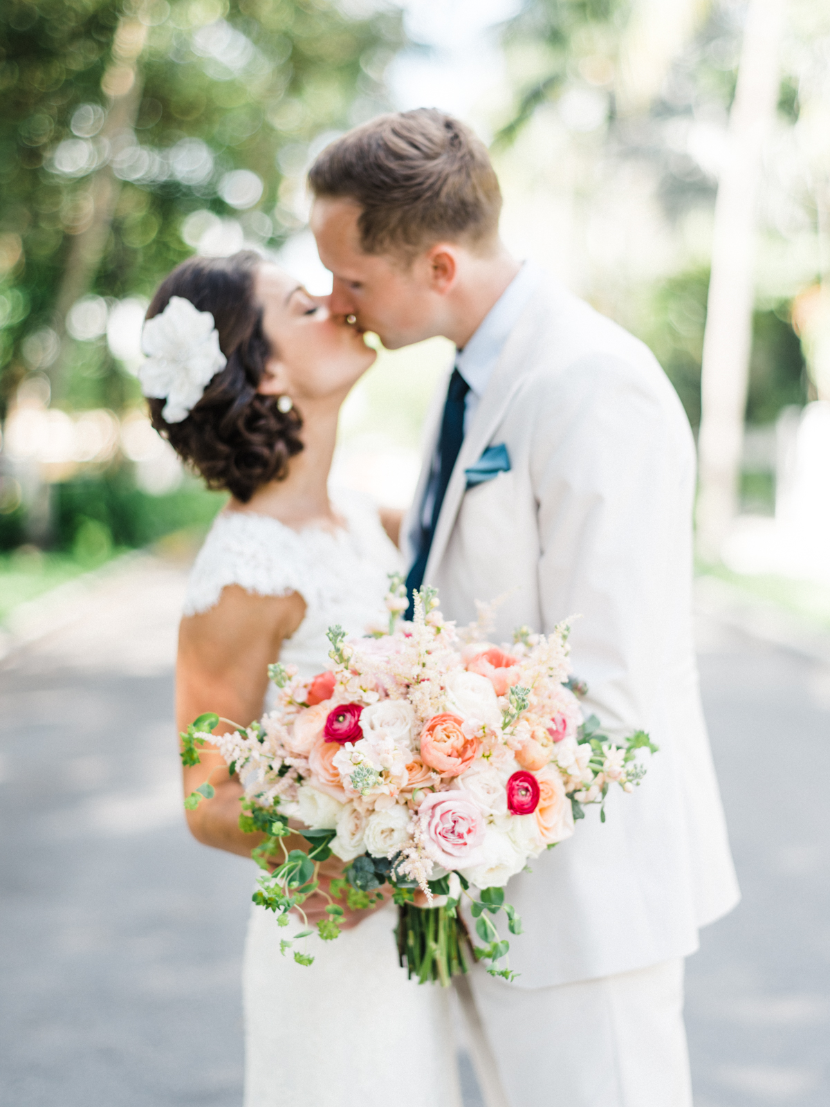 From England to Key West destination wedding at the Hemingway House and Museum